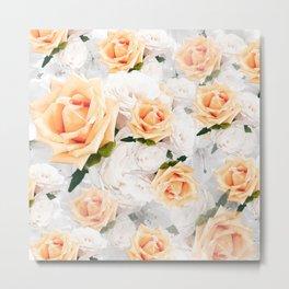 YELLOW ROSES WHITE ROSES Metal Print