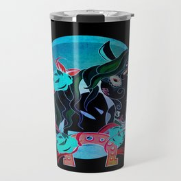 Day of the Dead Horse Travel Mug