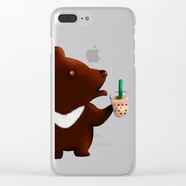 My Bubble Tea Clear iPhone Case