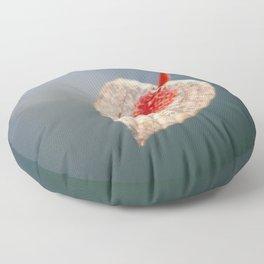 Japanese Lantern Flower Fruit Close up Floor Pillow