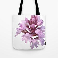 Pink Orchid Wildflower Tote Bag