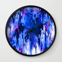 Marshmellow Skies (midnight blue) Wall Clock