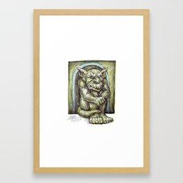 Green Gargoyle Framed Art Print