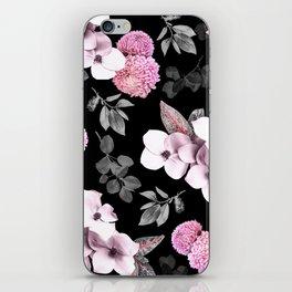 Night bloom - pink blush iPhone Skin