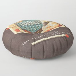 Light My Fire Floor Pillow