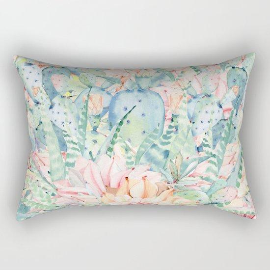give me pastels Rectangular Pillow