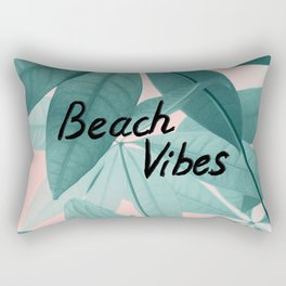 Pachira Aquatica Beach Vibes #1 #foliage #typo #decor #art #society6 Rectangular Pillow