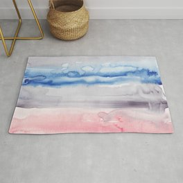 2     190907   Watercolor Abstract Painting Rug