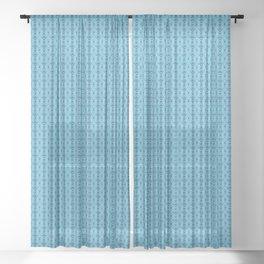 Ikat Bue Sheer Curtain