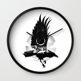THE RAVEN AND THE FOX Wall Clock