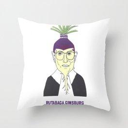 Rutabaga Ginsburg1 Throw Pillow