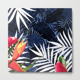 Bold Tropical Paradise Design Metal Print