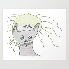The Royal Kitty! Art Print
