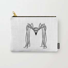 SPIDER . Black and White . Carry-All Pouch