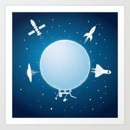Moon Orbit Art Print