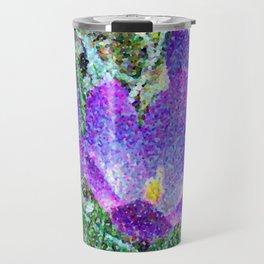 Purple Crocus Mosaic Travel Mug