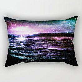 Mystic Waters Cool Tone Ombre Rectangular Pillow
