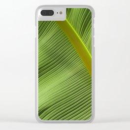 Banana Leaf Clear iPhone Case