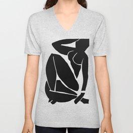 Matisse Cut Out Figure #3 Black Unisex V-Neck