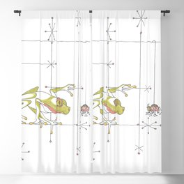 Whimsical Frog & Spider Blackout Curtain