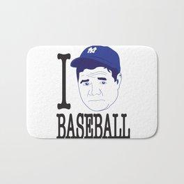 I __ Baseball Bath Mat