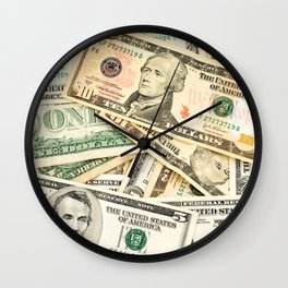 dollar bills Wall Clock