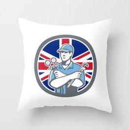 British Refrigeration Mechanic Icon Throw Pillow