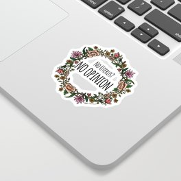 No Opinion (Wreathed) - Color Sticker