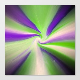 Green and Purple Abstract Art Canvas Print