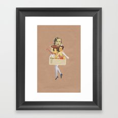 The lady that wore high heels Framed Art Print