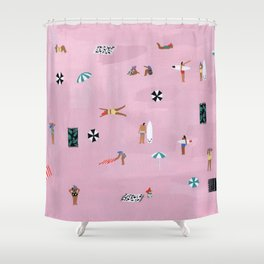 Lay down Shower Curtain