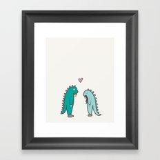 Dino Love Framed Art Print
