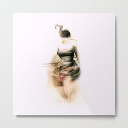 Lady Paris Metal Print