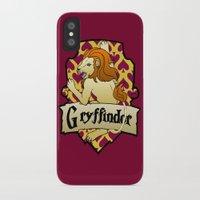 gryffindor iPhone & iPod Cases featuring Gryffindor Crest by AriesNamarie