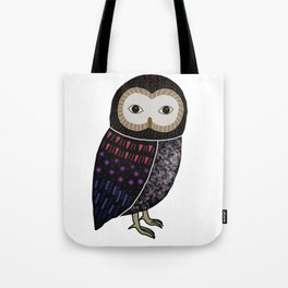 Black owl with red tone Tote Bag