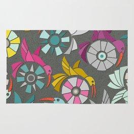 paper sunbirds graphite Rug