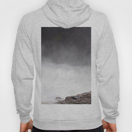 Mist Rising From the Rapids, Churning Water, Fast Moving River Hoody