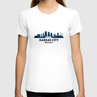 kansas city T-shirts featuring KANSAS CITY HOME by Random Acts of Design