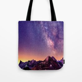 Sunset Mountain #stars Tote Bag