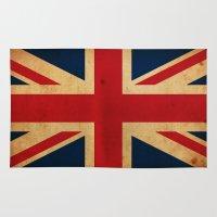 union jack Area & Throw Rugs featuring Union Jack by NicoWriter