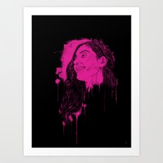 Black Pink Pop Art Print