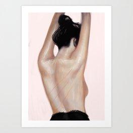 Irina the dancer #2 Art Print