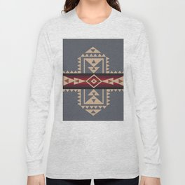 American Native Pattern No. 121 Long Sleeve T-shirt
