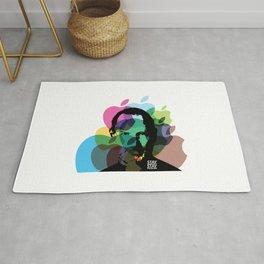 Lab No. 4 - Steve Jobs Inspirational Typography Print Poster Rug