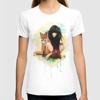 hearts T-shirts featuring Fox Love by Ariana Perez