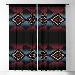 aztec in black number 5 Blackout Curtain