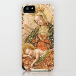 The Virgin Adoring the Christ Child with Two Saints iPhone Case