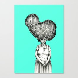 I'm not fat, I'm unfit Canvas Print