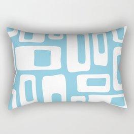 Retro Mid Century Modern Abstract Pattern 732 Blue Rectangular Pillow