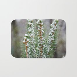 Snow Covered Pines Bath Mat